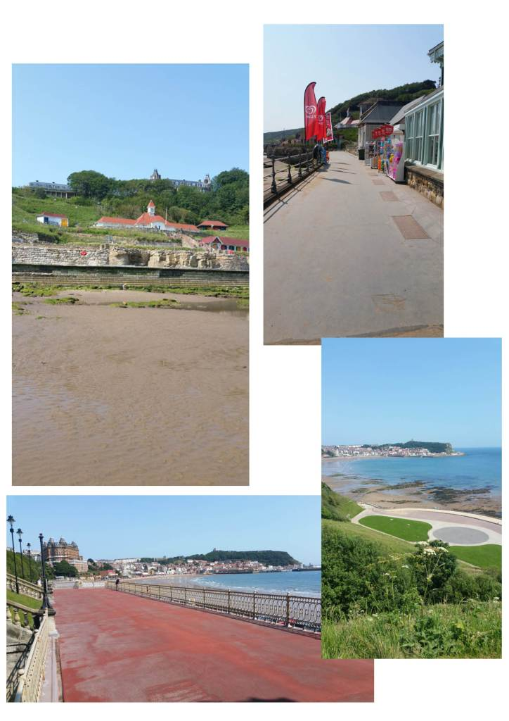 Awaydays in Scarborough - the Clock Cafe (not open), the shop (open) and deserted views towards the town